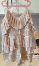 Alice McCall Rose Gold Blush Off Shoulder Playsuit Size 12