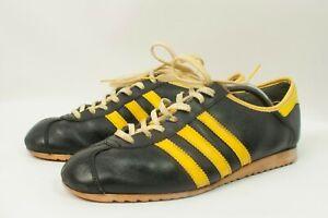 RARE Vintage 70s Adidas Perfekt shoes BLACK/YELLOW Made in Austria