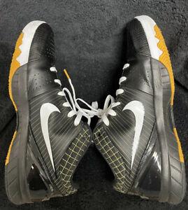 Nike Zoom Kobe 4 Del Sol Black White Yellow Men's Size 12 (2009)