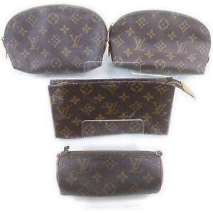 Louis Vuitton Monogram Cosmetic Pouch 4 pieces set 519075