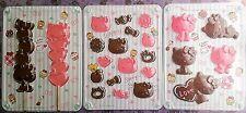 Kawaii Hello Kitty 3 Set Chocolate Mold Decoration Fast Free Shipping Japan