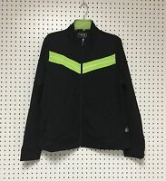 Be Inspired Women's Zipper Front Black Lime Yoga Active wear Top Jacket 3X NWT.