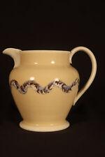 Rare 1800s 4 Color Earthworm Pitcher Mochaware Pearlware Staffordshire Mint