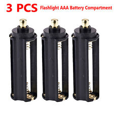 3PC AAA Battery Holder Spring Box For Flashlight Torch Battery Compartment Cover