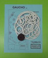 1963 Gottlieb Gaucho pinball rubber ring kit