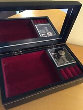 Vintage Avon Music Jewelry Box Black Lacquer / President's Sales Competition1983