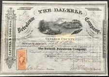 DALZELL PETROLEUM COMPANY Stock 1866. Venango County, Pennsylvania. BEAUTY. VF+