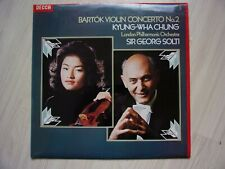 Kyung Wha Chung  Sir Georg Solti Bartók Decca SXL 6802 Red Unboxed Label UK LP