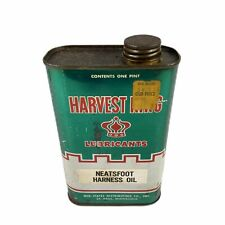 Harvest King Lubricants - NEATSFOOT HARNESS OIL - Empty - (1) One Pint Size