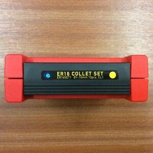 ER16 Collet Set 10 Collets 1.0-10 Mm Diameter (1.0 Collapse) Class 1 BNIB 0.010