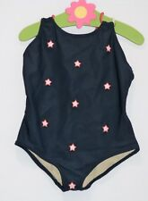 Baby Gap Red Outlined White Stars Navy Blue One-Piece Swim Suit, 5 yrs.