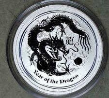 Australia 2012 Year Of The Dragon 1/2 Ounce .999 Silver Coin - Lunar Series