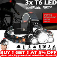 Super-bright 90000LM 3x T6 LED Headlamp Headlight Flashlight Head Torch Camping