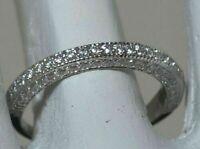 2.00 Ct Round Brilliant Cut Diamond Wedding Band Ring  14k White Gold Finish