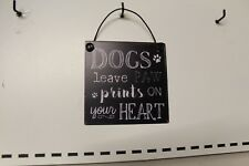 SMALL METAL  HUMOUR  DOG  SIGN