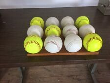 "1 dozen mixed 12"" softballs, great Bp balls"