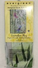 New listing New Evergreen Reflections 29� X 43� Decorative Flag With Bamboo& Dragonflies