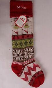 Pottery Barn Kids Fair Isle Christmas stocking, dancer ballerina *monogram Mom