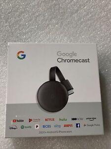 Google Chromecast Black, Brand New (3rd Generation) GA00439-US