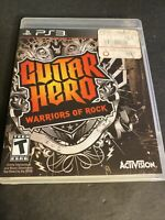 GUITAR HERO: WARRIORS OF ROCK Playstation 3 PS3 - Game And Case