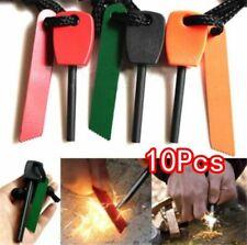 10Pcs Fire Starter Lighter Magnesium Flint Stone Emergency Camping Survival Gear