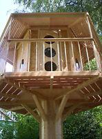 BAUMHAUS Spielturm Stelzenhaus Kinderspielhaus LUXUS BAUPLAN BAUANLEITUNG