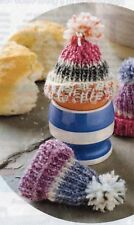 ~ Knitting Pattern For Cute Bobble Hat Egg Cosies ~ Also Great Barbie Doll Hats!