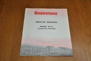 Regentone BT 11 Portable Transistor Radio Workshop Service Manual