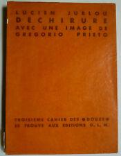 Collection douze, Pierre Courthion, describe G.L., Lucien jublou-Gregorio Prieto