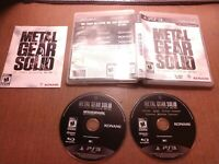 Sony PlayStation 3 PS3 Tested Metal Gear Solid The Legacy Collection Ships Fast