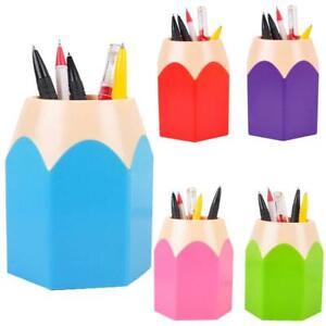 Makeup Brush Vase Pencil Pot Creative Pen Holder Stationery Tidy Desk Storage UK