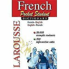 French Pocket Student Dictionary (Paperback or Softback)