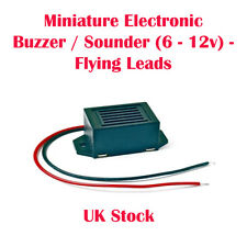 Miniature Electronic Buzzer / Sounder (6 - 12v) - Flying Leads