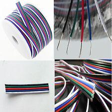 10 Mt piattina cavo prolunga RGBW 5 x 0,25mm alta qualità per led e strip RGBW