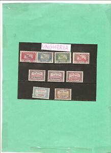 francobolli ungheria 1918 sere posta aerea usati