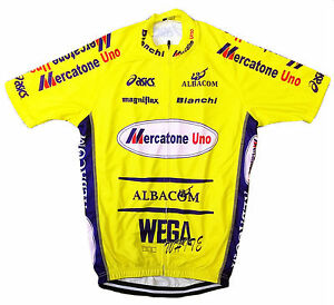 MERCATONE UNO MARCO PANTANI RETRO VINTAGE CYCLING TEAM BIKE SUMMER JERSEY