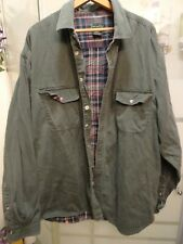 Mens Olive Green Scandia Woods Flannel Lined Cotton Shirt - SZ 2X