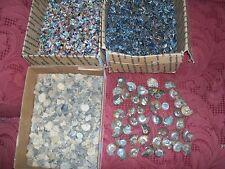 1 large ammonite 10 ammonites 20 fossil shark teeth and 20 gemstones per lot