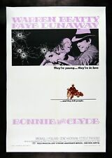 BONNIE AND CLYDE * CineMasterpieces 1SH ORIGINAL GANGSTER MOVIE POSTER 1967