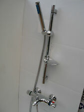 THERMOSTATIC WALL BATH SHOWER VALVE MIXER TAPS, HAND SHOWER, RAIL & HOSE 092/104