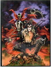 SPAWNED - SPAWN & GENE SIMMONS Pre-Production PROOF HAND SIGNED by James Cukr