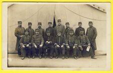 cpa CARTE PHOTO Officiers et Soldats du 9e Régiment en 1914 Militaires Uniformes