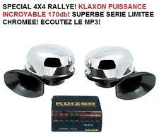 KLAXON DOUBLE 2X45W 170db!  JEEP LAND RANGE DEFENDER HDJ LJ KDJ DMAX PATROL L200