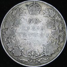 1912 VG Canada Silver 50 Cents (Fifty, Half) - KM# 25 - Free Shipping - JG