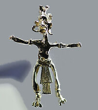 LOOK Art sculpture nude Witch Doctor Witchcraft Silver charm