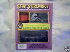 1987 WHAT'S BREWING? Milwaukee Brewers Magazine