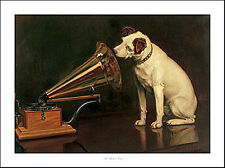 "JACK RUSSELL TERRIER HMV DOG FINE ART PRINT ""Nipper"" His Master's Voice Barraud"