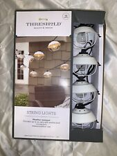 10 ct, Outdoor Cage String Lights, Party Lights by Threshold, White Cage