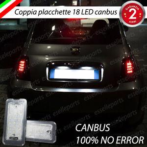 PLACCHETTE A LED LUCI TARGA 18 LED SPECIFICHE FIAT 500 500c 6000K NO ERROR