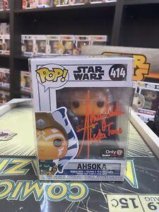 Rosario Dawson Signed Ahsoka Tano Star Wars Funko Pop #414 JSA Certified